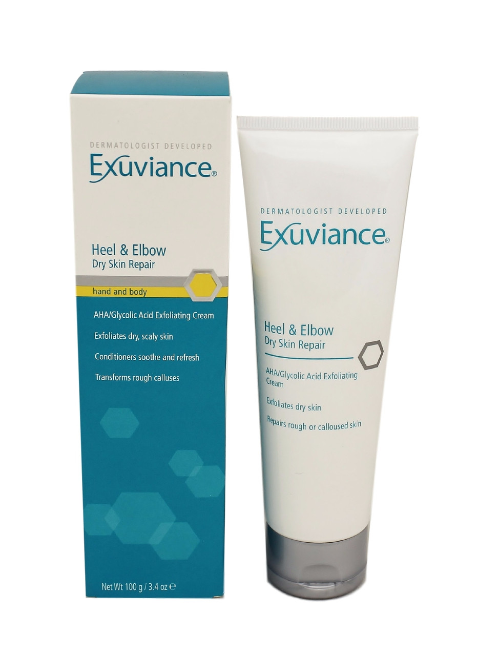 exuviance heel and elbow