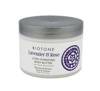 Biotone Lavender & Rose Ultra Hydrating Body Butter, 7.5 oz.