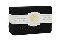 True Moringa Nourishing Black Soap For Face and Body, 3.5 oz.