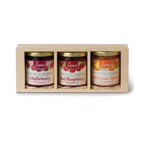 Linn's Fruit Preserves Pine Gift Box