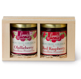 Linn's Fruit Preserves Gift Box – 2-Jar Seedless Wood Box