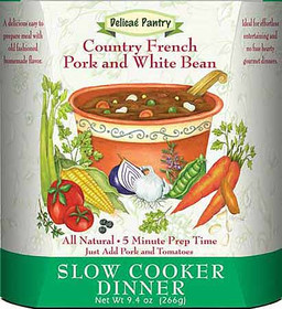Country French Pork and White Beans Slow Cooker or InstaPot Meal