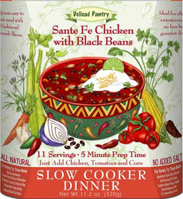 Santa Fe Chicken with Black Beans Slow Cooker and InstaPot Meal