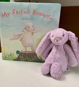 Plush Toy - Jelly Cat Plush Bunny and Board Book - Ships Free