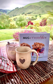 Mom Etched Mug and Crumbles Cookbook Set - Ships Free