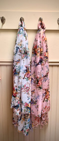 Songbird Scarf in White or Blush Color - Ships Free
