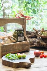 Arugula Pesto and Wooden Cheese Board