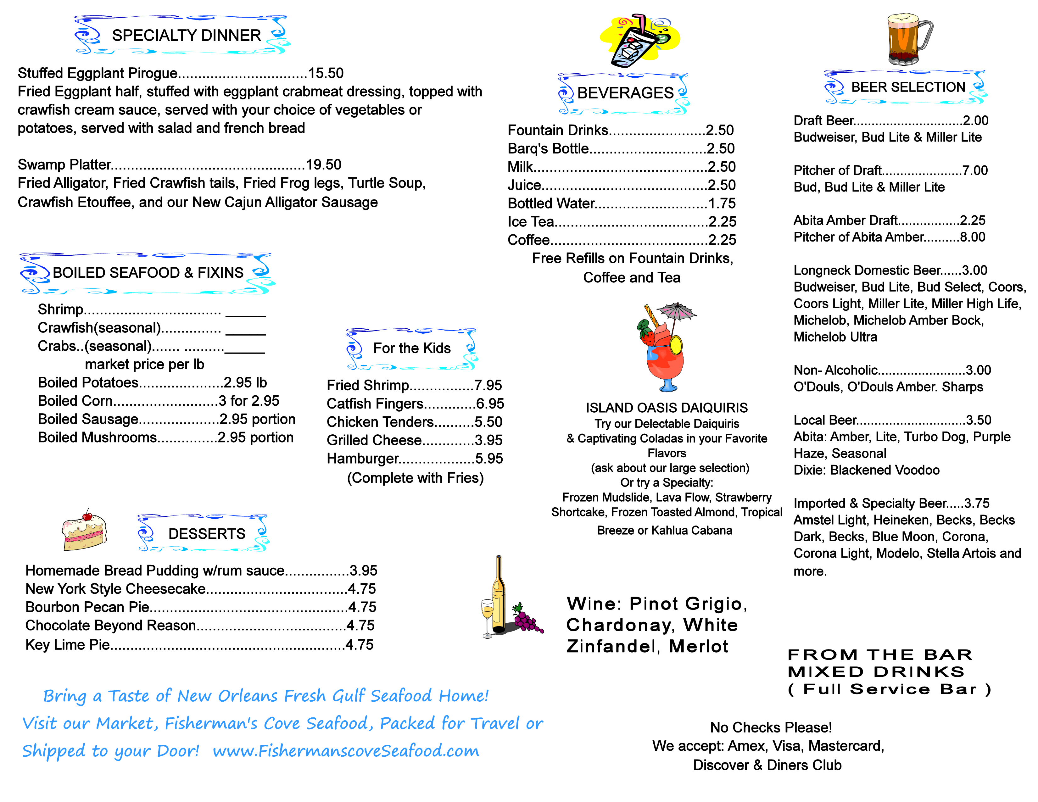 Harbor seafood oyster bar restaurant for T s dining and lounge virden menu