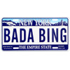 Bada Bing License Plate