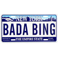 Bada Bing License Plate