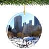 Porcelain New York City Central Park Christmas Ornament