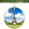 French Porcelain Paris Eiffel Tower Christmas Ornament