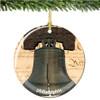 Porcelain Philadelphia Liberty Bell Christmas Ornament