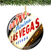 Porcelain Las Vegas Christmas Ornament