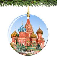 Porcelain Saint Basil's Cathedral Christmas Ornament