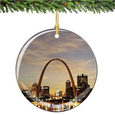Porcelain Saint Louis Christmas Ornament