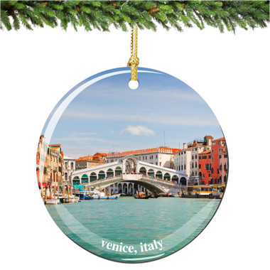 Italian Porcelain Venice Christmas Ornament