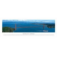Panoramic San Francisco Golden Gate Bridge Poster