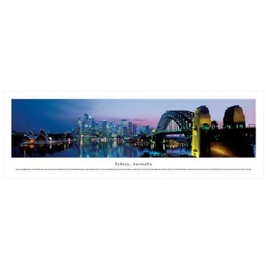 Panoramic Sydney Poster