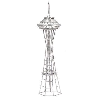 Seattle's Space Needle Replica Wire Model and Statue