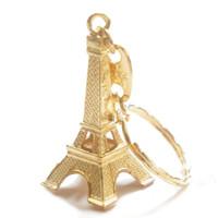 Gold Eiffel Tower Key Chain
