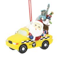 Santa's Taxi Ornament