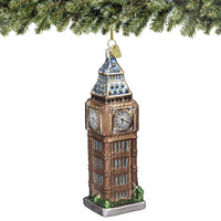 Glass London Big Ben Christmas Ornament