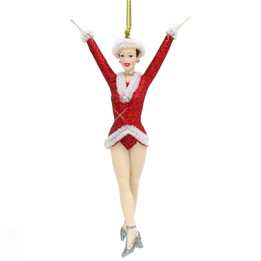 NYC Glass Rockette Christmas Ornament