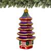 Glass Five Storied Japanese Pagoda Christmas Ornament