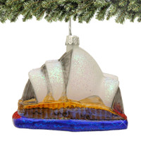 Glass Sydney Opera House Christmas Ornament