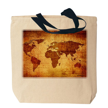 Antique world map tote bag antique world map canvas tote bag gumiabroncs Choice Image