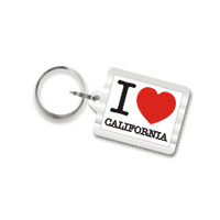 I Love California Plastic Key Chain