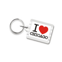 I Love Chicago Key Chain