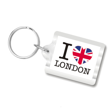 I Love London Plastic Key Chain, I heart london