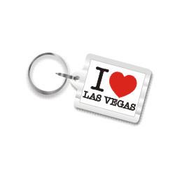 I Love Las Vegas Plastic Key Chain