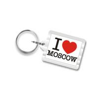 I Love Moscow Plastic Key Chain