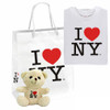 I Love NY Gift Package with T-Shirt, Bear and Bag