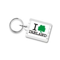 I Shamrock Ireland Plastic Key Chain