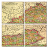 Kentucky Map Coaster Set of 4