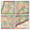 Tennessee Map Coaster Set of 4