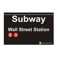 Subway Wall Street Magnet