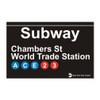 Subway Chambers Street World Trade Center Magnet
