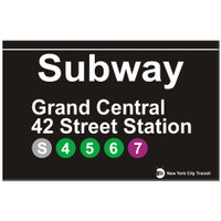Replica Subway Sign for Grand Central 42 Street Station
