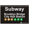 Replica Brooklyn Subway Sign