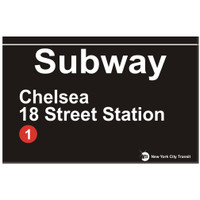 Replica Chelsea Subway Sign
