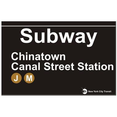 Chinatown Replica Subway Sign