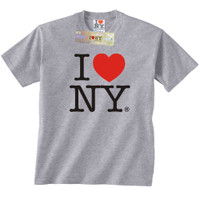 Gray I Love NY t-shirts from New York City I Love NY Souvenir Store