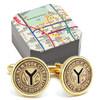 Gold Token NYC Subway Cufflinks