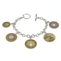 Silver Token Charm NYC Subway Bracelet