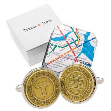 Transit Token Boston Cufflinks